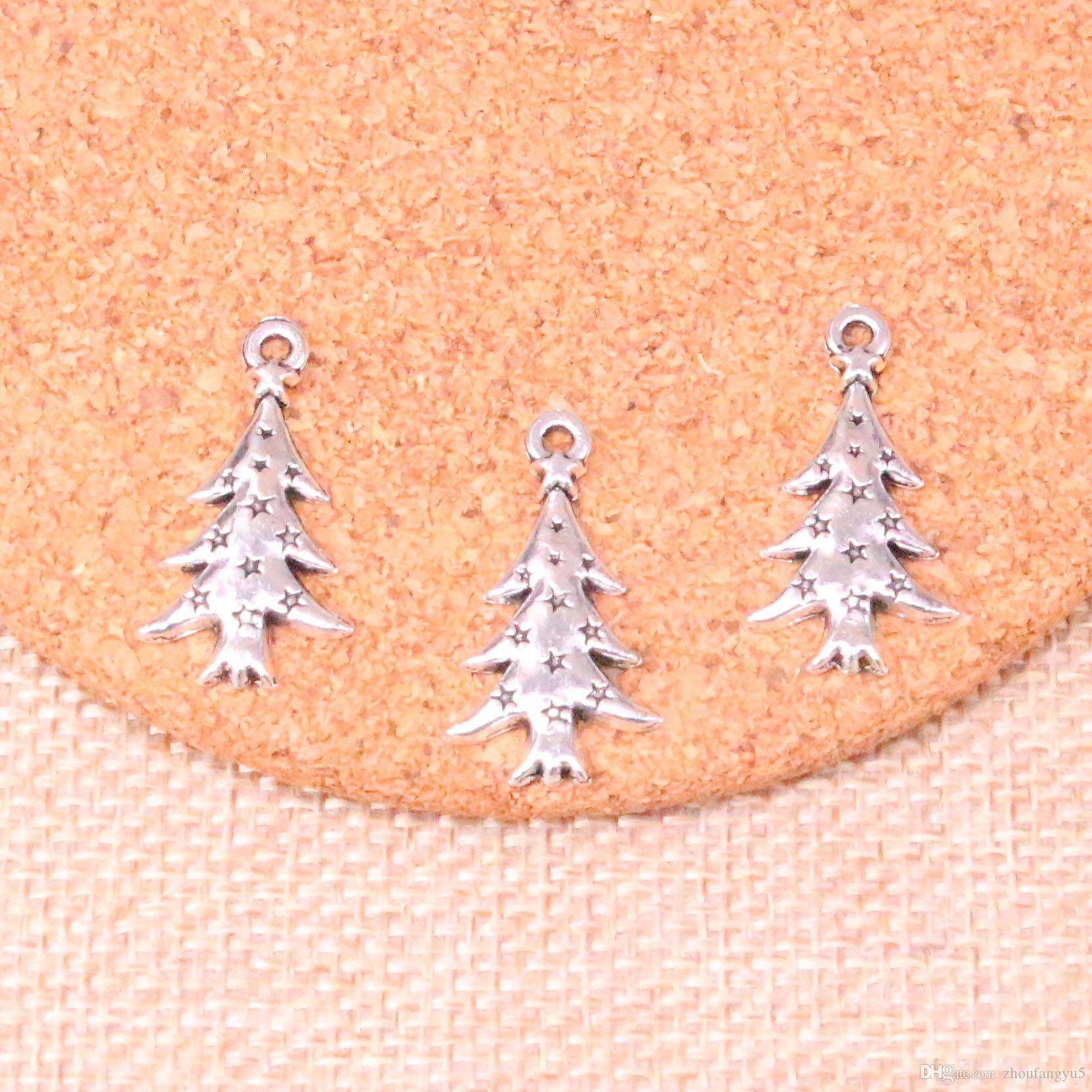 Tibetan Silver Christmas//Xmas Tree Charms 10 per pack