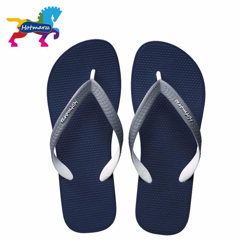 Hotmarzz hombres sandalias del verano de flip flop diseñador Marca Playa de goma Diapositivas Casa Zapatos Inicio zapatillas hombres zapatos