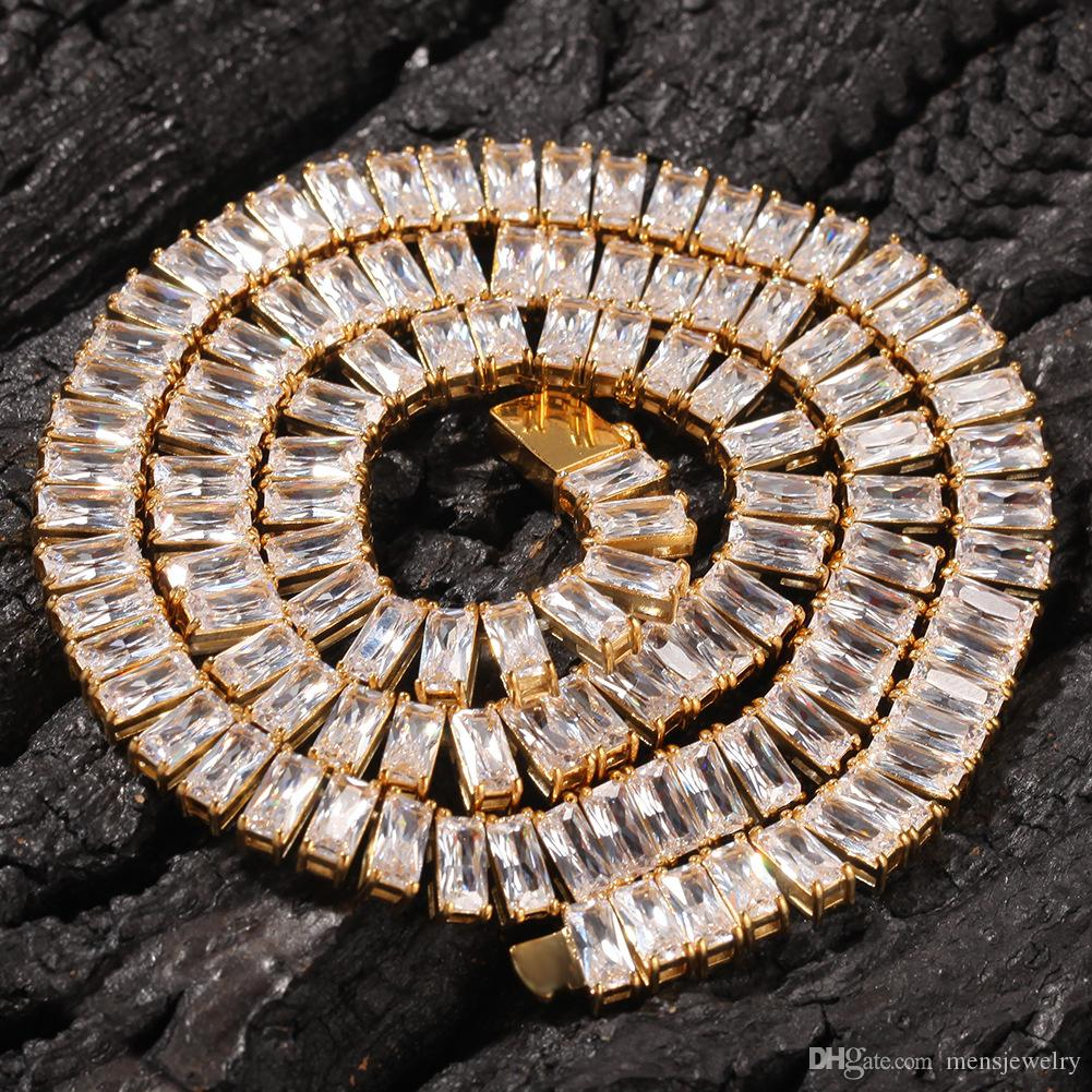 Correntes de Gelado Chains Hip Hop Jóias Mens Luxury Designer Declaração Colares Bling Diamante Cadeia de Ouro Prata Capper Charms Moda Acessórios