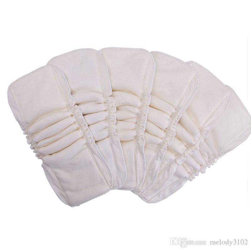 Bamboo Cotton Insert Washable Reusable Baby Cloth Diaper Nappy Waterproof PUL No Microfiber 5 Layers