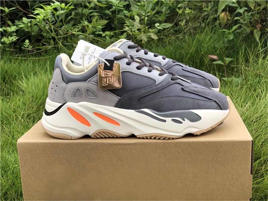 2019 700 originaux Aimant FV9923 Kanye West coureur de vague Chaussures de course pour homme femme Sarcelle 3M réfléchissantes Sneakers authentiques