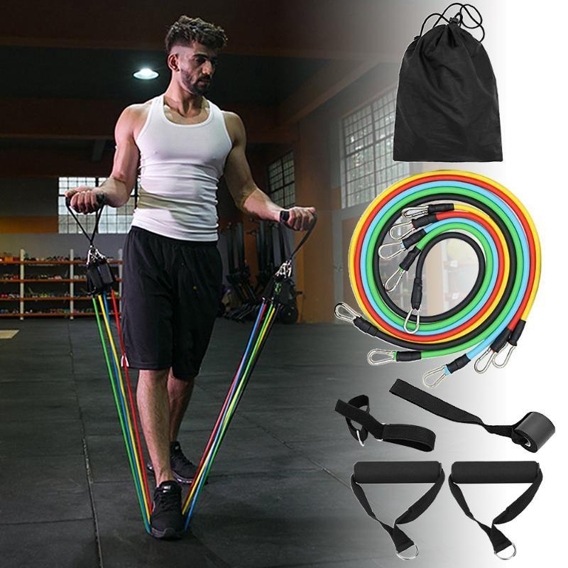 Widerstand-Bänder stellten Workout Gym Sport Heim-Übungs-Schlauch-elastische Bänder für Fitness Tür-Anker Ankle Straps Fitnessgeräte