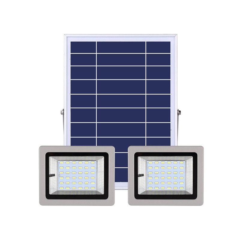 رئيس مزدوجة أضواء LED للماء في الهواء الطلق للطاقة الشمسية ضوء الفيضانات مع IR عن بعد مسار تحكم حديقة الطاقة الشمسية شارع مصباح المناظر الطبيعية