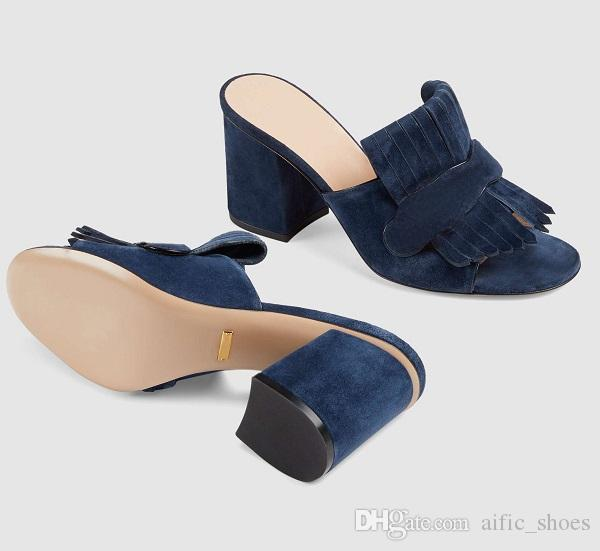 النساء الجلد المدبوغ منتصف كعب مضخة صندل منصة الصنادل مصمم أحذية مارمونت الصنادل مع أضعاف هامش جلد طبيعي عالية الكعب مع مربع us11