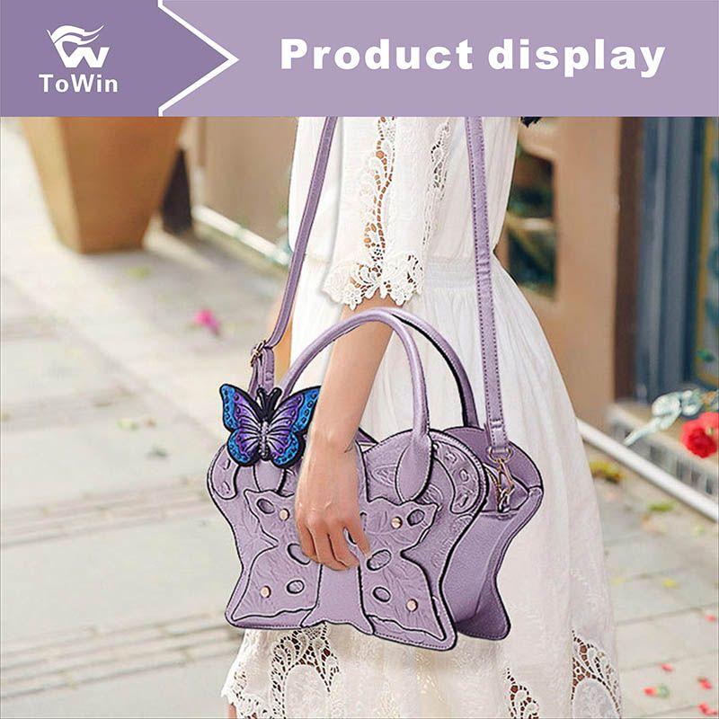 Женские сумки Роскошные слинговые сумки Lady Shell Bag Бабочка украшения Бостон сумка Модная сумка на плечо Trend Tote женские сумки через плечо кошелек