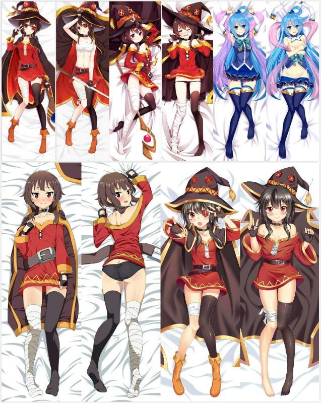 Japan Anime KonoSuba God's Blessing on This Wonderful World! Megumin High Quality Covers Hugging Body Pillow Cover Case Pillow Case