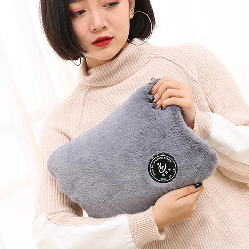 Hot Water Bag Flannel 6-layer Thick PVC Explosion-proof Hot Water Bottle Hand Warmer Waist Shoulder Cervical Spine Hot Pack T191109