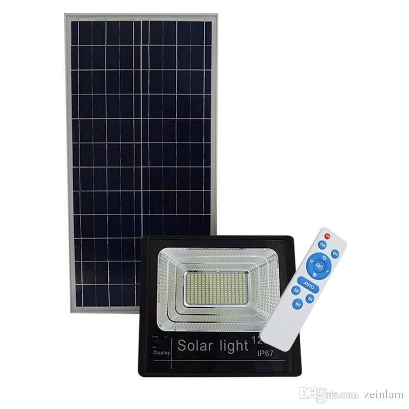 reflector nueva versión al aire libre 25W 40W 60W 120W lámparas solares LED indicador de luces de inundación solar con la carga de visualización