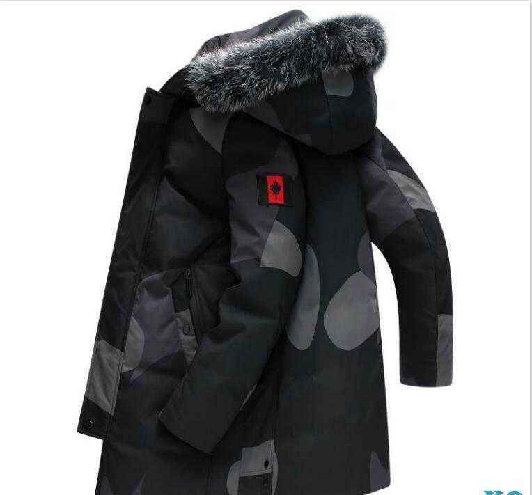 Brand Men s Winter Down Coat Designer Men Down Parkas Luxury Jackets White Duck Down Fox Fur Collar Hooded Thick Coat ClothingX6
