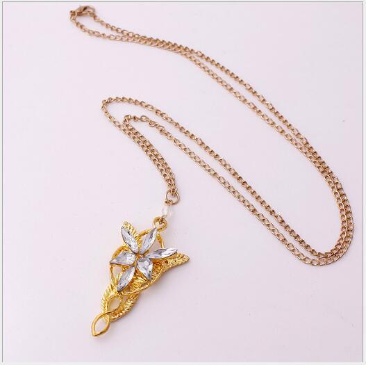 I più venduti in Europa e in America amore del Signore Anello degli Anelli Elf Principessa Ornamento di Twilight collana crepuscolare signora stella Necklace964
