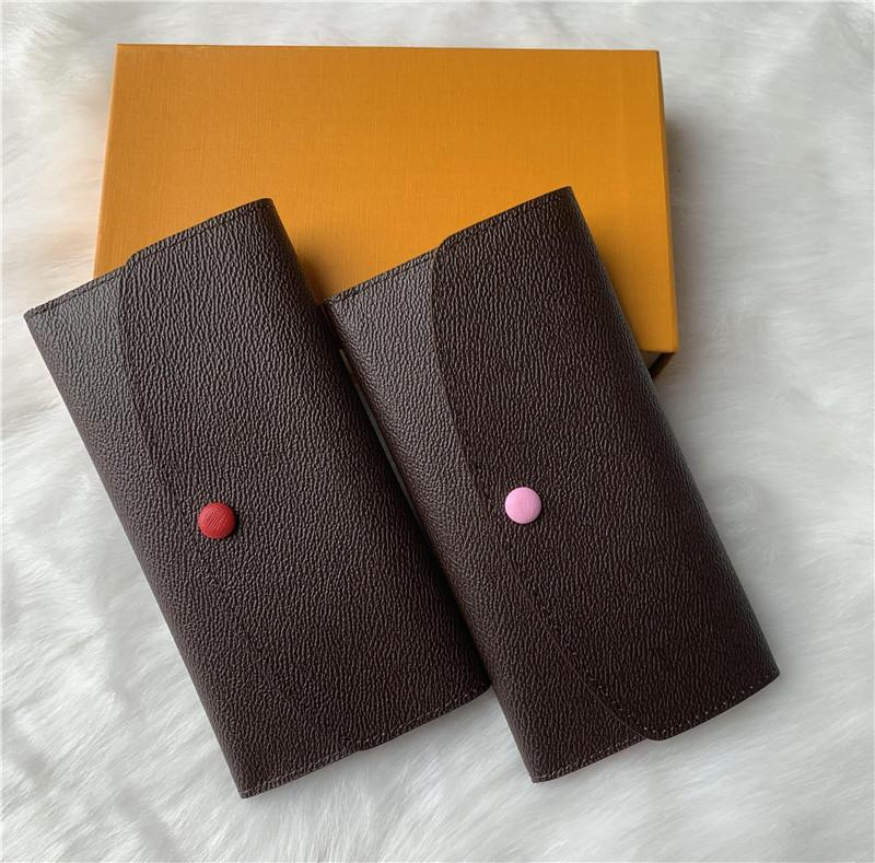 turuncu kutu kartıyla 60136 LB81 uzun kese erkek ve kadınlar bayanlar için 9 renkler moda tasarımcısı tek fermuar cebi deri cüzdan