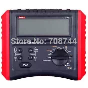 Freeshipping UNI-T UT595 Multifunction Loop Testers Earth Ground Line Loop Impedance Tester Insulation Resistance Meter w/ RCD Protection