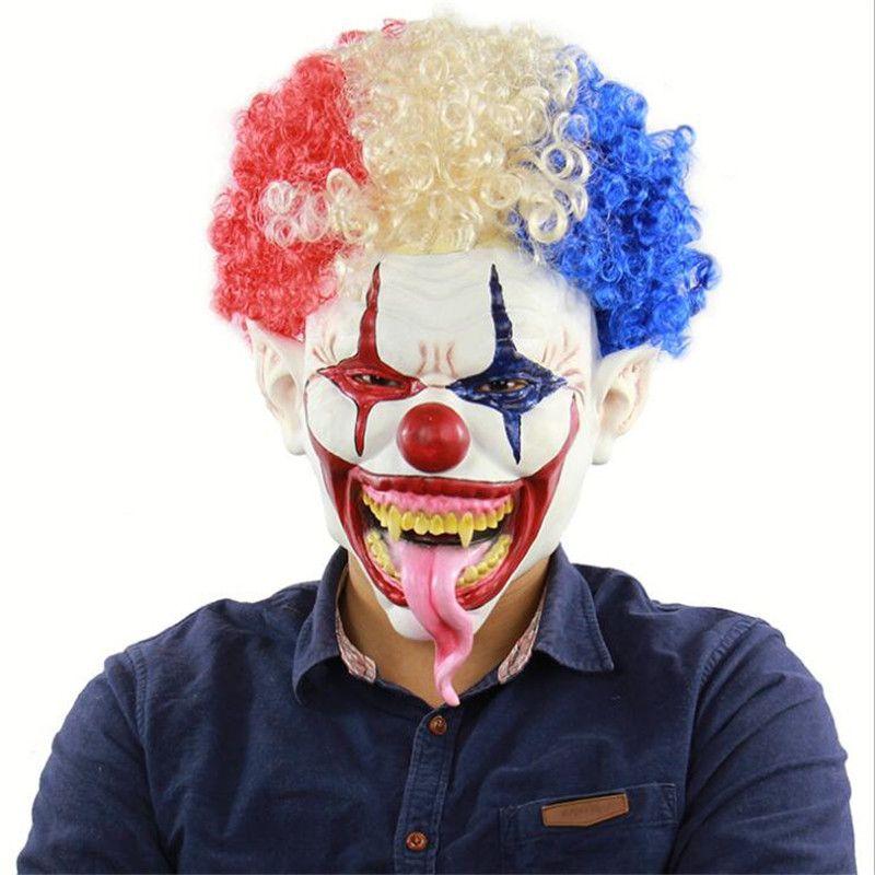 FASHION Jester Designer Masks Personality Wig Ornament Festival Headgear Party & Bar Performance Horror Mask Trendy Film Props