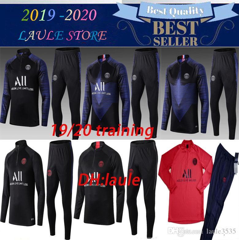 2019/20 AJ psg CHÁNDAL TRAJE DE ENTRENAMIENTO mbappeI survêtements SWEATER 2019 2020 psg PARIS Traje de entrenamiento TAMAÑO S-XL chandal set