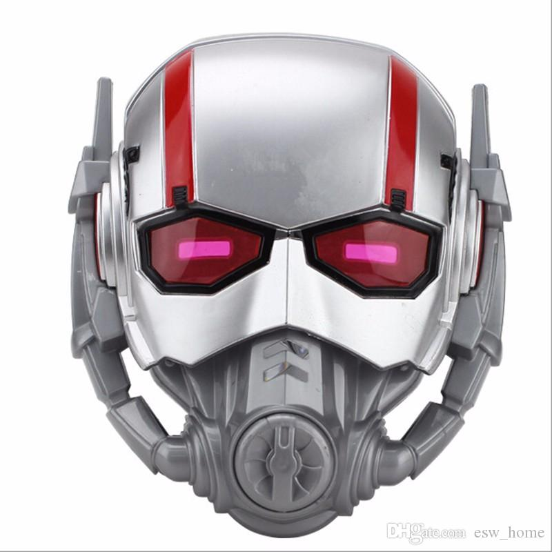 Ant Man And The Wasp Mask Cosplay Antman Scott Edward Pvc Led