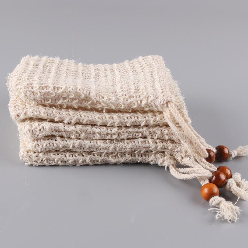 Сизаль мыло заставка мешок натуральный отшелушивающий сетки мыло Saver для чехол держатель для душа с пеной для ванны сушки 9*14см оптом