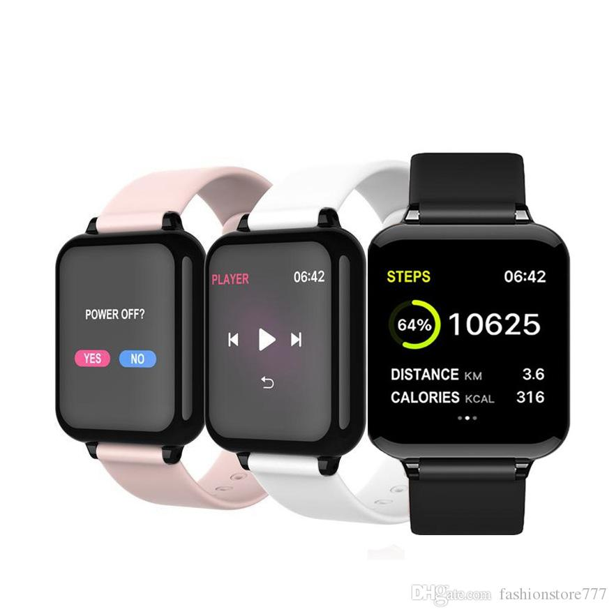 سمارت ووتش 2020 سمارت ووتش شاشة ملونة الضغط الذكية ووتش معدل ضربات القلب وضغط الدم الدم يخطو تذكير بلوتوث الرياضة سوار