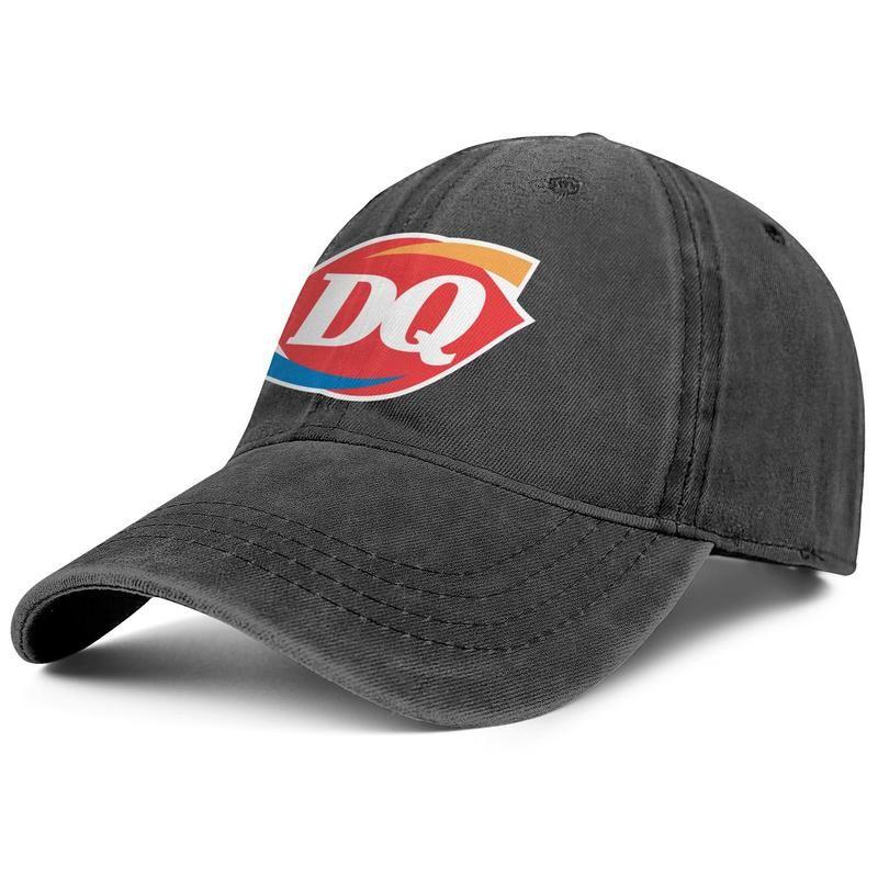 Dairy gelato regina DQ per il vintage denim berretti da baseball, uomini e donne del progettista regolabili Lavato montato Gay pride rainbow Camouflage