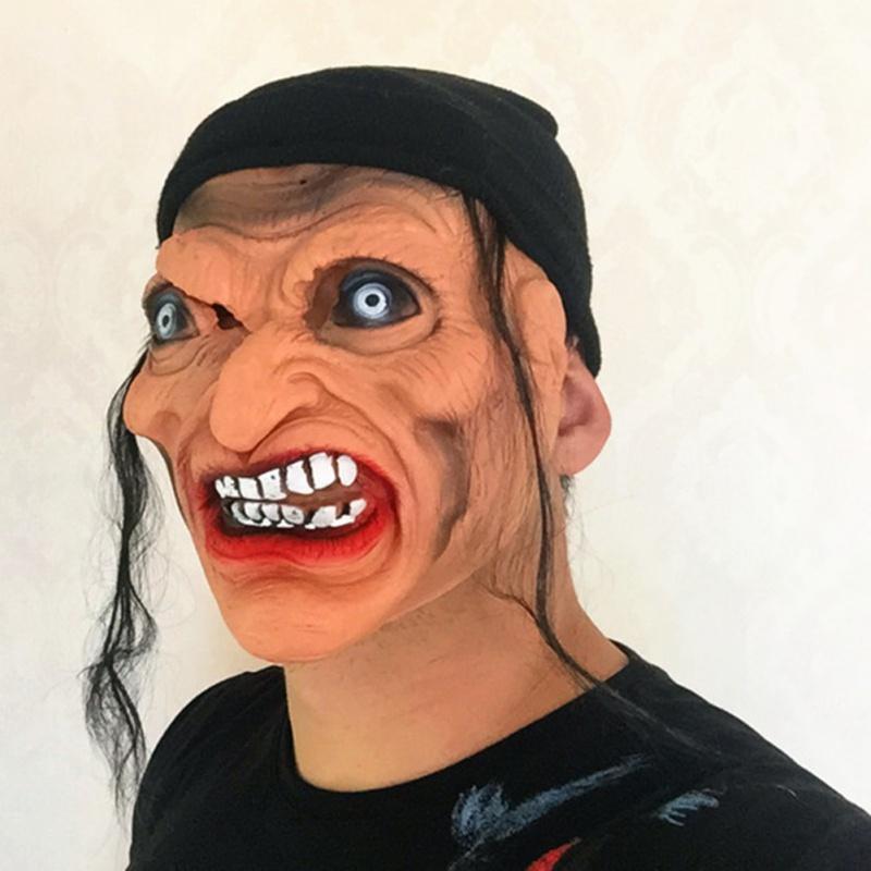 Benzersiz Cadılar Bayramı Cadı Taşınabilir Cosplay Giydirme Dikmeler Festivali Parti Malzemeleri korku KOYU cadı maskesi
