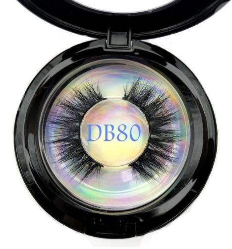 Ciglia di visone 5D 25mm visone Ciglia finte morbido naturale addensare e allungare ciglio delle ciglia con estensione scatola rotonda strumenti di bellezza GGA2304