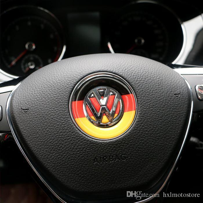 Car Styling Volante emblema da etiqueta para o Volkswagen Polo Tiguan Touran Passat B5 B6 B7 Golf 4 5 6 7 Jetta MK5 MK6