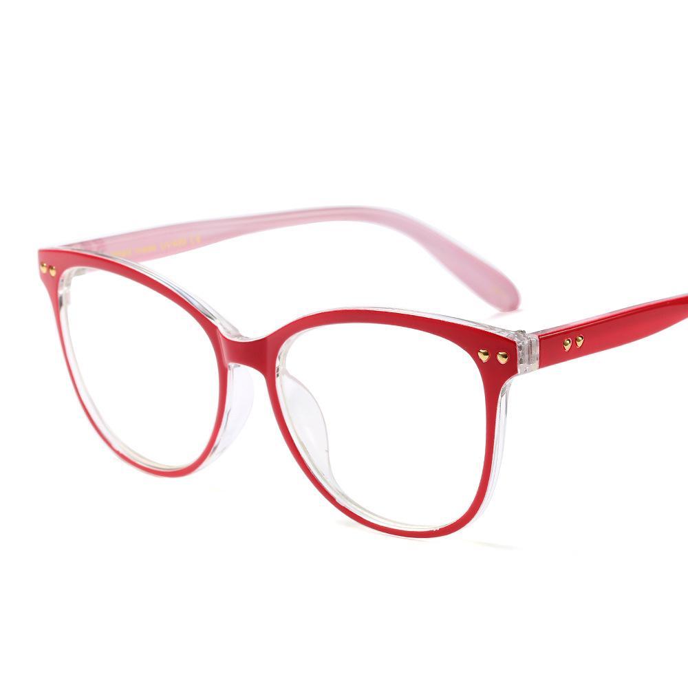 الجملة أزياء النساء نظارات إطارات أنثى كبير إطار نظارات نظارات جولة واضح عدسة النظارات قصر النظر pescription