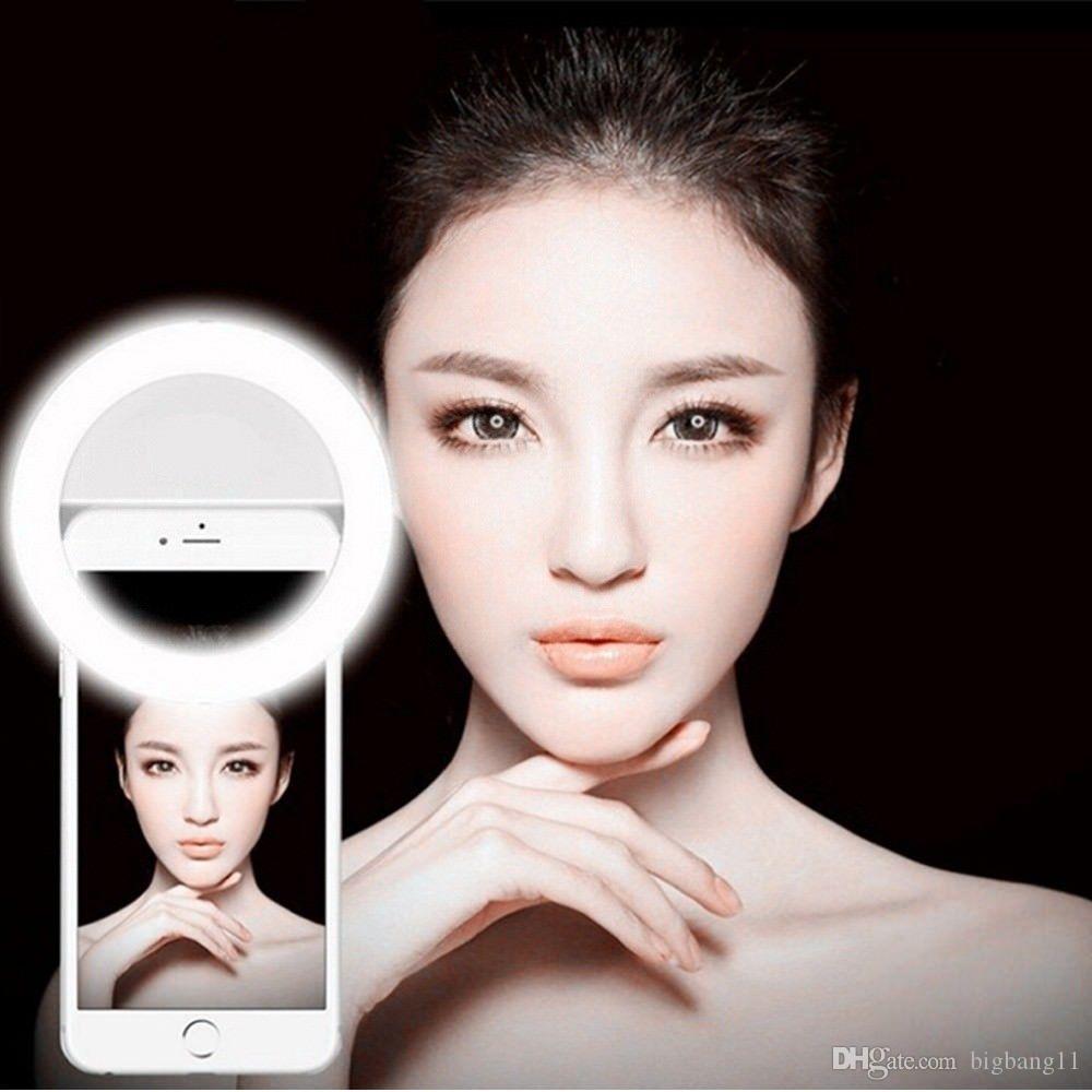 Top vender Top vender Selfie Anel Luz XJ-01 Portátil Flash Led Camera Telefone Realçando Fotografia Beleza Luz para Celular