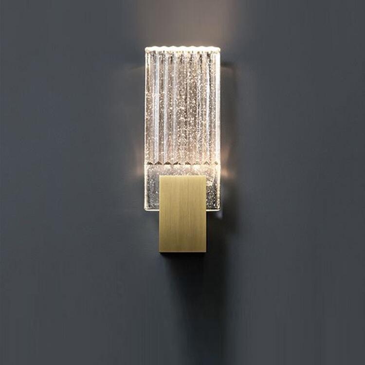 Modern minimalist oturma odası kristal duvar ışık Amerikan sanat başucu çalışma tasarımcı duvar lambası goldWall Mouted