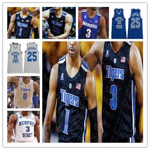 2019 Custom Memphi Tigers College Basketball 5 Boogie Ellis 32 James Wiseman Jeffries Achiuwa Hardaway NCAA Stitched Jerseys High Quality