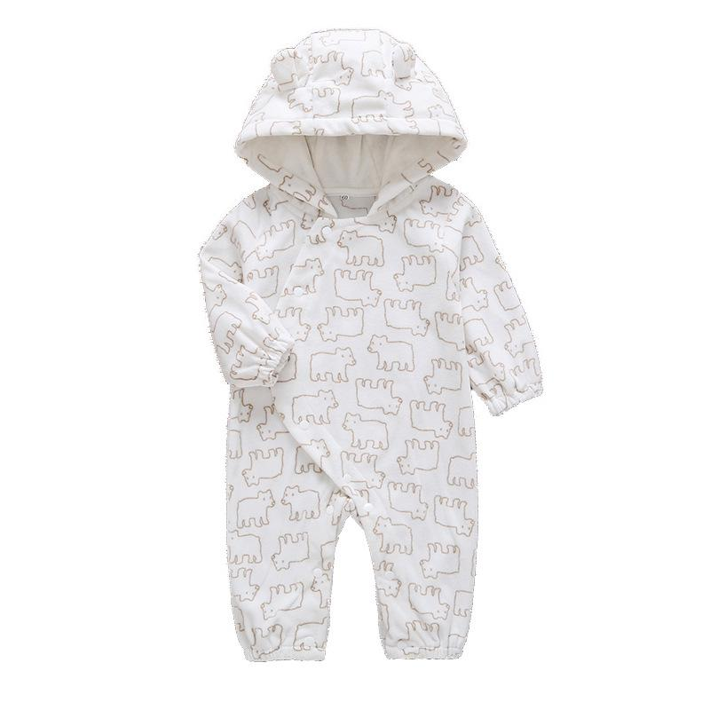 Infant Toddler Baby Christmas Boy Girl Geometric Hoodie Jumpsuit Romper Suit UK