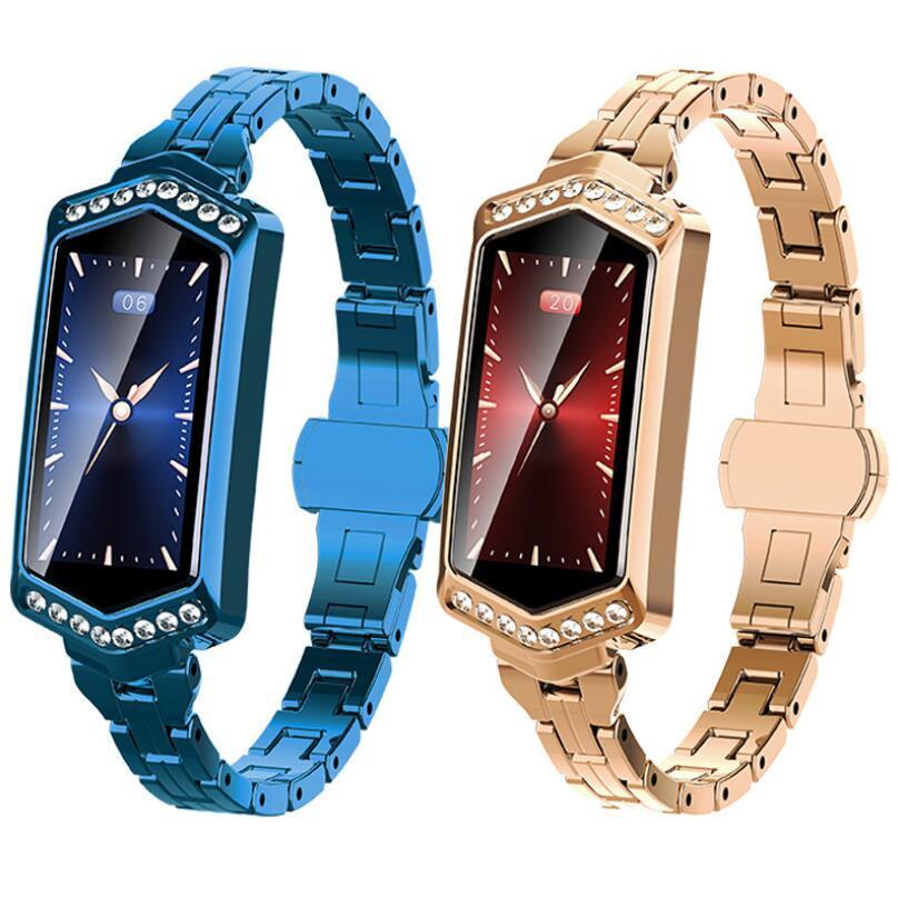 Новая Женская мода B78 цветной экран смарт-часы кровяное давление мониторинг сердечного ритма IP67 физиологический период GPS трек браслет