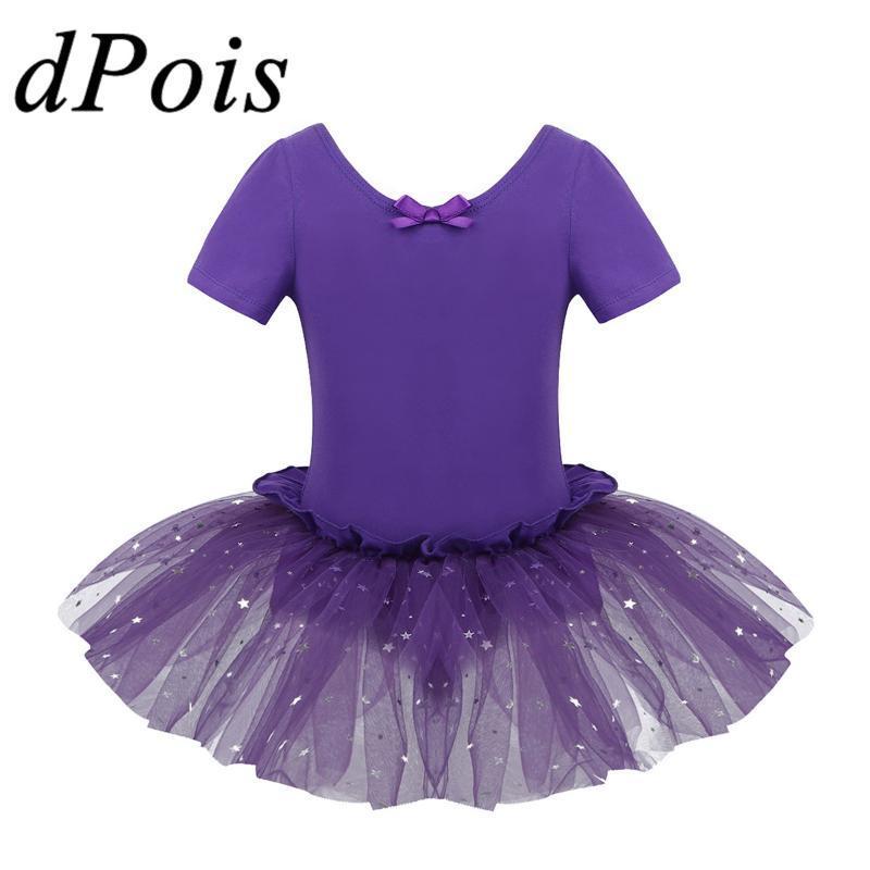 شكل U-DPOIS أطفال بنات تول القطن تنورة الأطفال الترتر سباركلي شبكة الباليه الرقص الجمباز يوتار توتو الرقص واللباس
