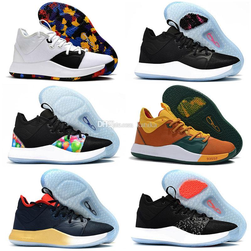 New Top Quality PG 3 NASA shoes for sales 2019 Paul George Basketball shoe store