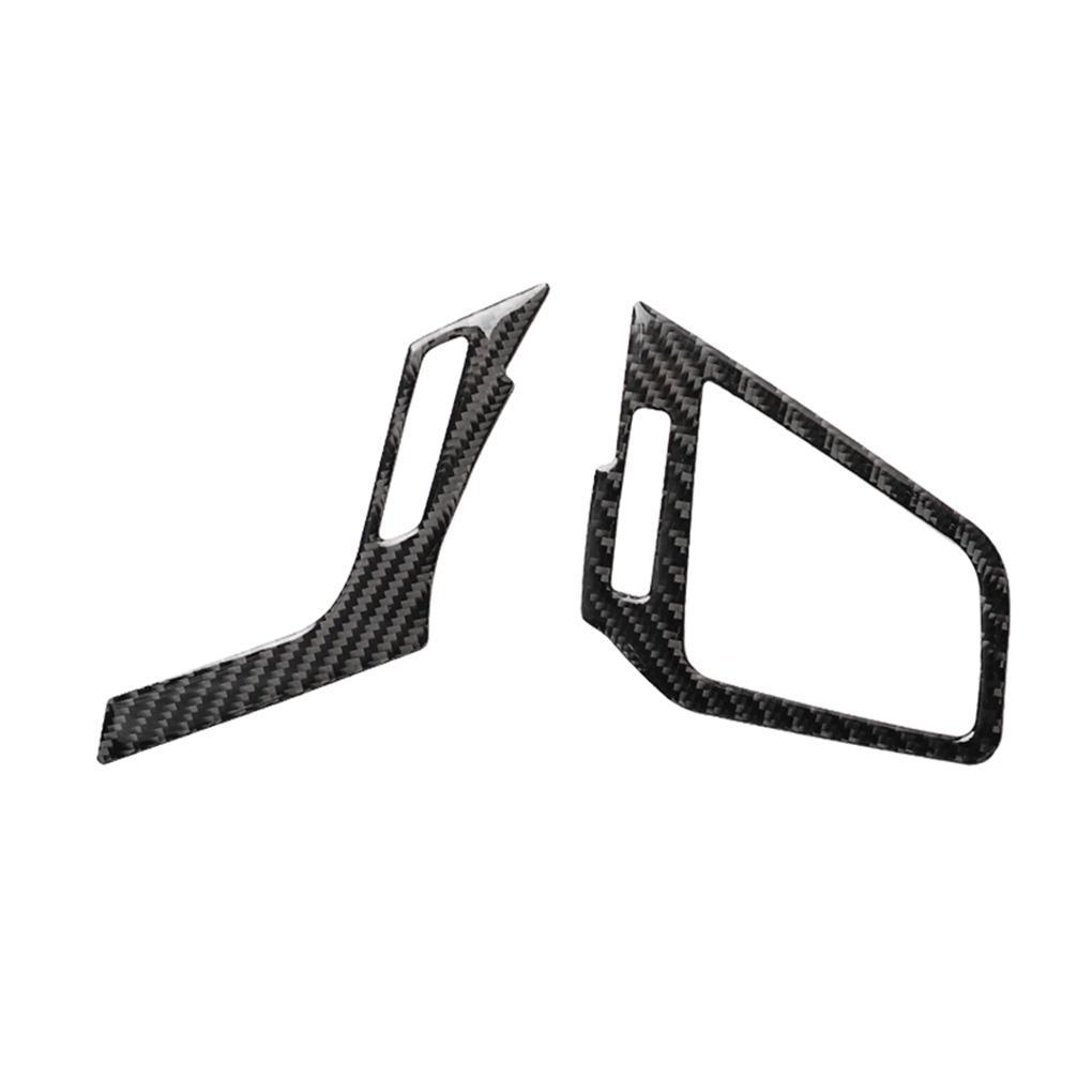 Air Vent Cover,Upper Air Vent Cover,2pcs Carbon Fiber Interior Upper Air Vent Outlet Cover Trim Fit for Honda Civic 2016-2019