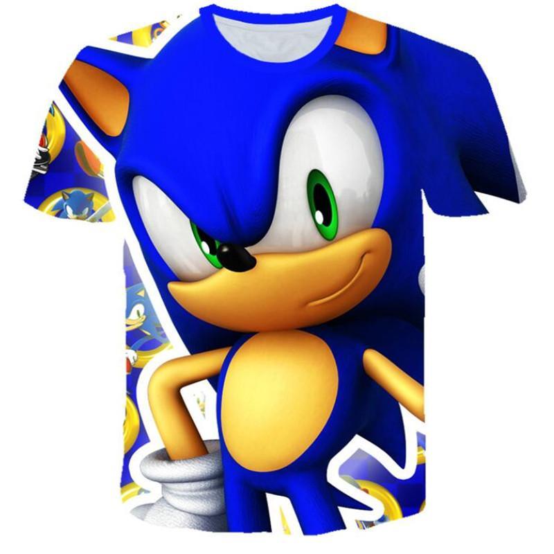 Meninos Mario SONIC Imprimir camisas Roupa para meninas 3D Funny T-shirts Costume Crianças 2020 roupas de verão caçoa camisetas Baby T