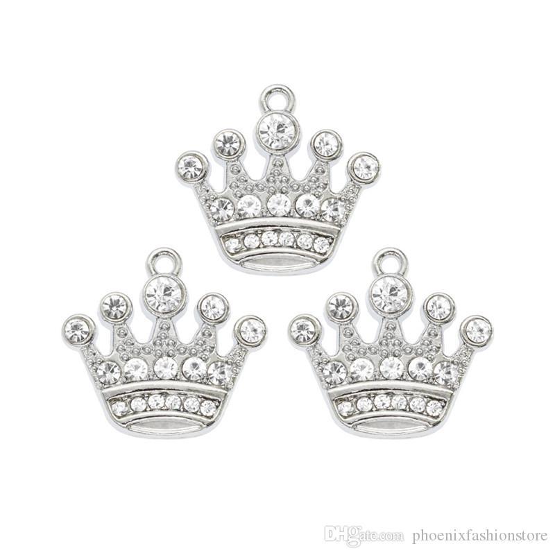 Кристалл Корона Висячие Шарм Подвеска Вращающийся омаров застежка браслета Floating Locket Key Chain мотаться Bag Charm для макияжа Аксессуары Ювелирные изделия