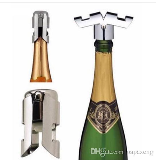 Ventes 2019 !!! En gros !! Livraison gratuite Accueil Cuisine Mousseux En Acier Inoxydable Champagne Bouteille De Bouchon Bouchon De Vin Bouchon De Bouteille