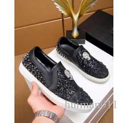 Nuevo nombre del diseñador de la marca Man Zapatos ocasionales planos Kanye West Moda arrugado de piel con cordones escotados Formadores fugitivo Arena Zapatos am243