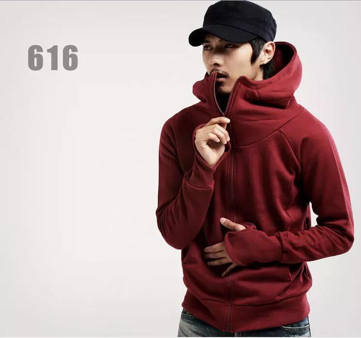 Erkekler Triko Katı Renk Siyah Hip Hop Hoodie Coat Yeni Moda Kapşonlu Kapüşonlular İçin Erkekler M-3XL