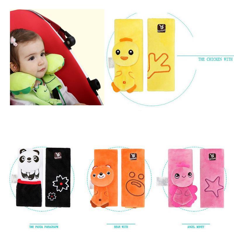 Ceinture de sécurité Siège bébé voiture couverture Pad ceinture de sécurité Protège-épaules Protection enfants Couverture poussette Accessoires