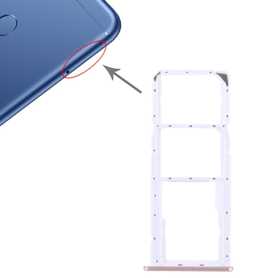 Huawei Honor Çal 7C için 2 SIM Kart Tepsi + Micro SD Kart Tepsi