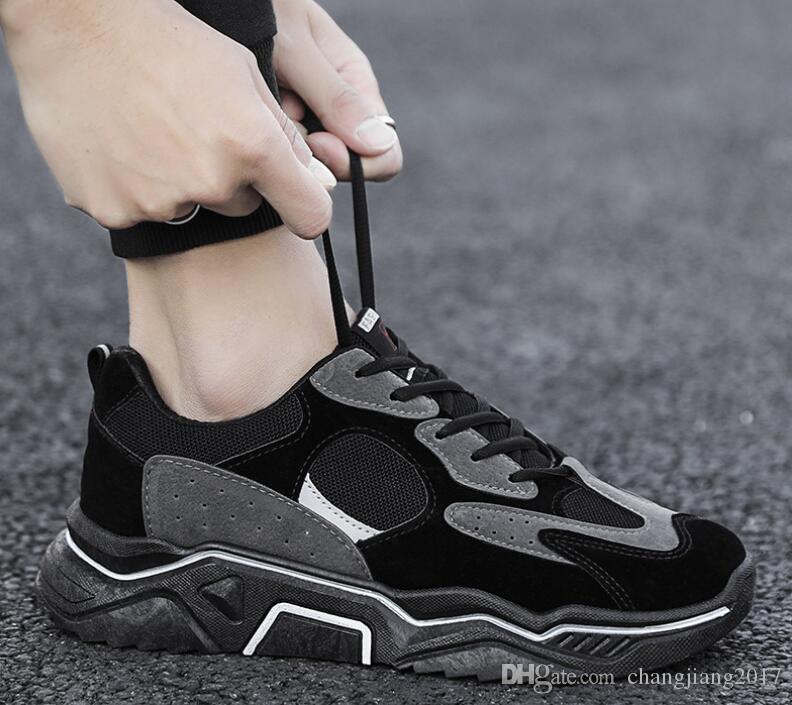 2020 Livraison gratuite nouvelles chaussures hommes d'arrivée d'athlétisme Casual Chaussures de marche tigre abeille Chaussures voyage bleu noir blanc 12-19