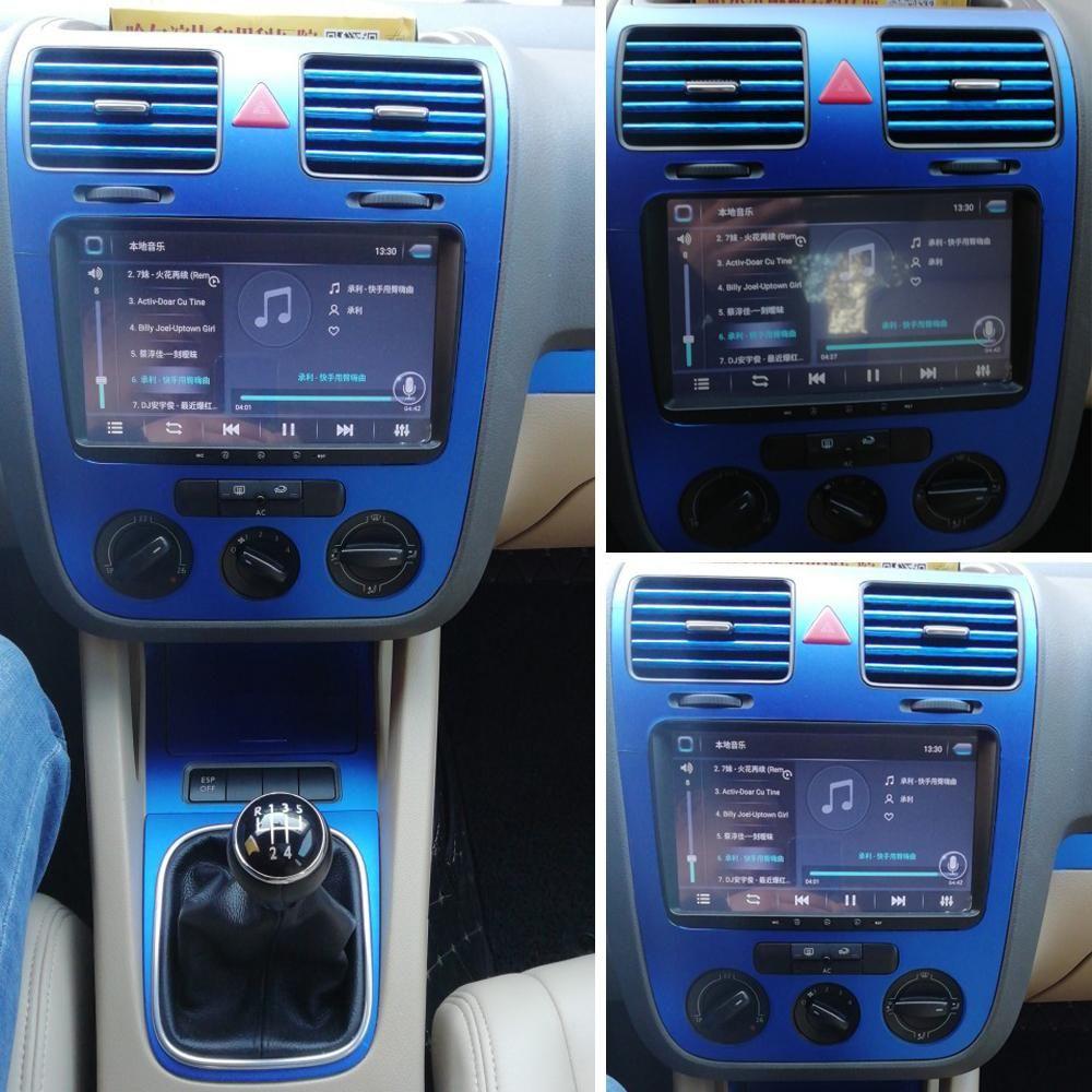 لفولكس واجن فولكس فاجن جولف GTI 5 MK5 الداخلية الوسطى لوحة التحكم مقبض الباب من ألياف الكربون ملصقات الشارات السيارات التصميم ملحقاتها
