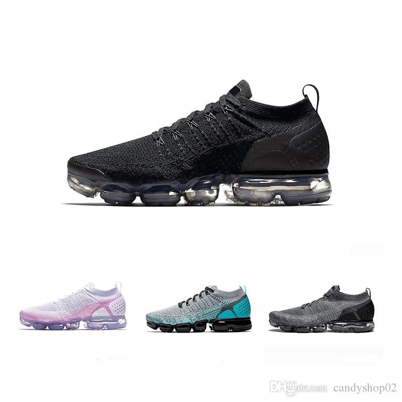 2019 VaporMax Air Flyknit Utility Mens Athletes Running Shoes Sapatilhas Trainer Sapatas Dos Homens Das Mulheres Dos Miúdos Sapatos de Corrida Respirável sapatos Formadores UK12