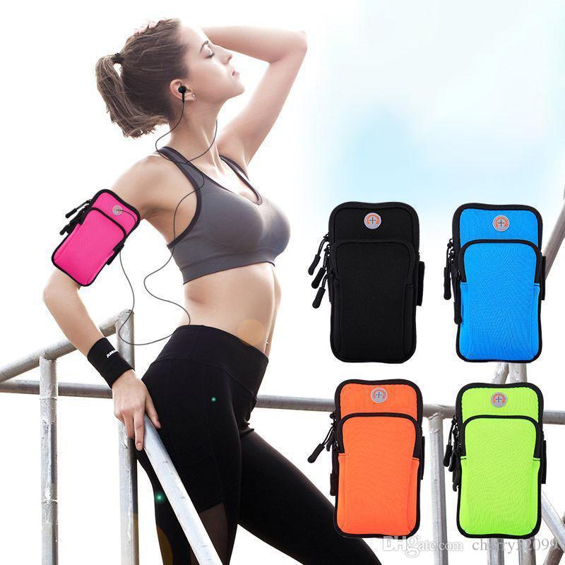 Спортивная повязка чехол работает бег трусцой повязка сумка держатель сумка для 4-6 дюймов универсальный для iPhone X XS MAX 8 7plus смартфон
