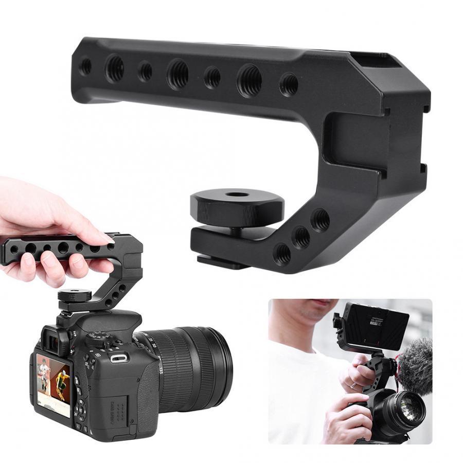 Photo Studio Acessórios Ulanzi UURIG R005 Universal mão Pega câmera com Fria Shoe Mount 1 / 4''3 / 8 '' Holes aperto de mão Camera Handle