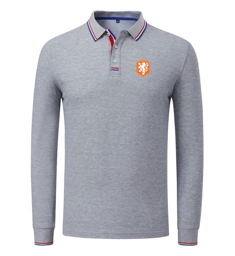 Respirável polo longo da luva de futebol Sports Holanda Equipe de futebol grosso Personalizar o logotipo do desgaste de homens Golf Sportswear Casual