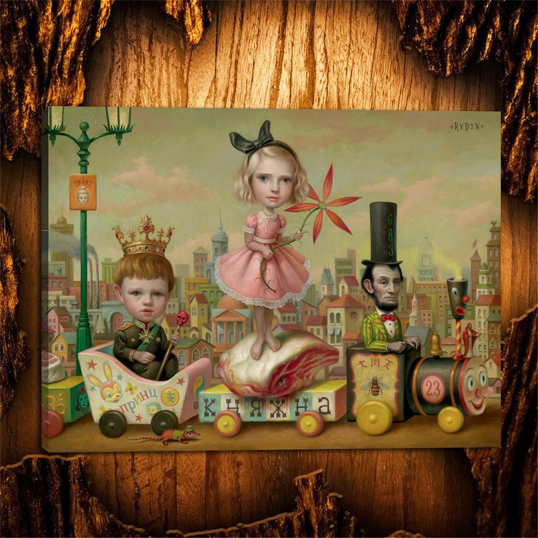 Mark Ryden, Pop Sürrealizm-11,1 Parça Tuval Baskılar Duvar Sanatı Yağlıboya Ev Dekor (Çerçevesiz / Çerçeveli) 24X32