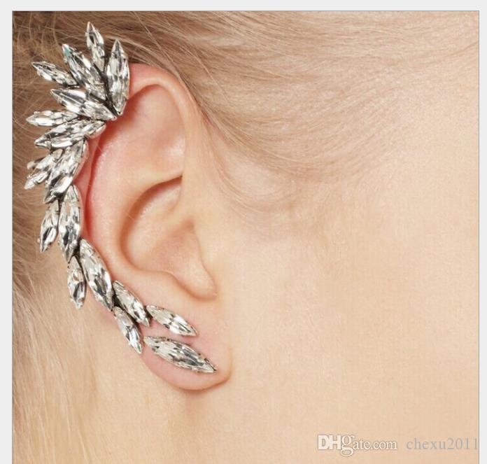 Pendientes de clip perfectos del oído del clavo del oído del diamante de la moda de la joyería