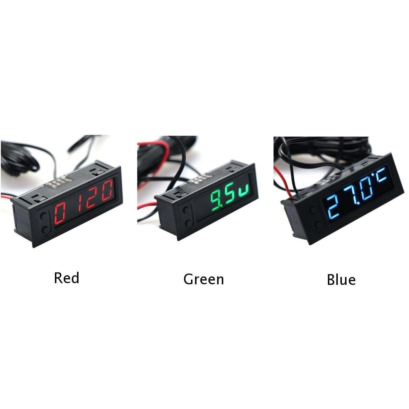 1X Многофункциональный 12V водить автомобиль часы термометр датчик температуры Вольтметр ПОЛЬЗОВАНИЯ